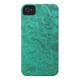 Teal Lace iPhone 4 Case-Mate Case