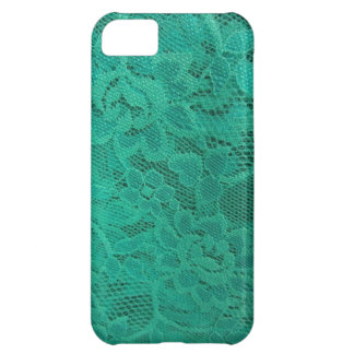 Teal Lace iPhone 5C Cases