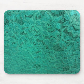 Teal Lace Mouse Pad