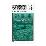 Teal Lace Save the Date Wedding Postage
