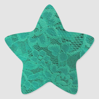 Teal Lace Star Sticker