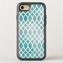 Teal Lattice Watercolor Pattern OtterBox Symmetry iPhone 8/7 Case