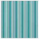 [ Thumbnail: Teal & Lavender Colored Lines Fabric ]