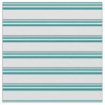 [ Thumbnail: Teal & Lavender Colored Stripes/Lines Pattern Fabric ]
