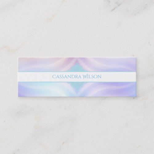 Teal Lavender Melon Quatrefoil Mini Business Card
