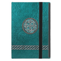 Teal Leather Celtic Knot Tribal iPad Mini Case