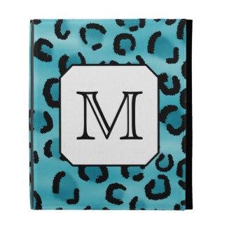 Teal Leopard Print, Custom Monogram. iPad Cases