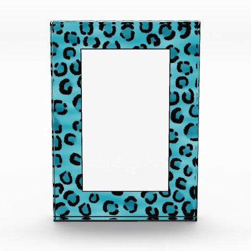 Teal Leopard Print Pattern. Awards