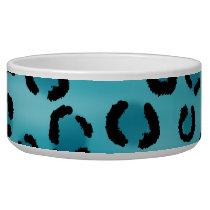 Teal Leopard Print Pattern. Bowl