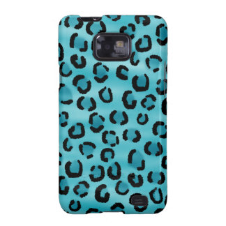 Teal Leopard Print Pattern. Samsung Galaxy S2 Case