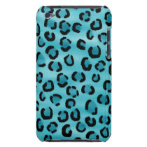 Teal Leopard Print Pattern. iPod Case-Mate Case