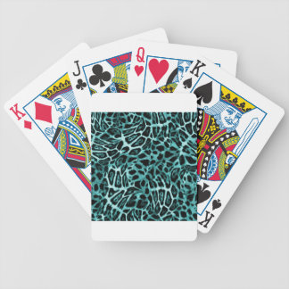 TEAL LEOPARD WOBBLE PATTERN BACKGROUNDS WALLPAPERS BICYCLE PLAYING CARDS