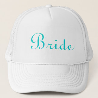 Teal Lettered Bride Hat
