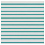 [ Thumbnail: Teal & Light Cyan Colored Lined Pattern Fabric ]