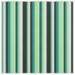 [ Thumbnail: Teal, Light Green, Light Cyan, and Black Pattern Fabric ]