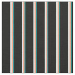 [ Thumbnail: Teal, Light Salmon, Light Cyan, and Black Colored Fabric ]