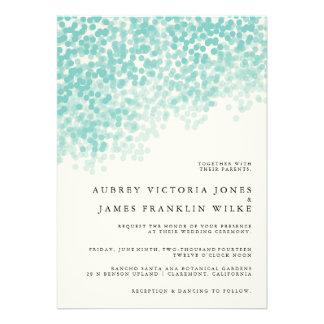 Teal Light Shower | Wedding Invitations