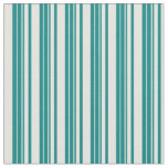 [ Thumbnail: Teal & Light Yellow Colored Lined Pattern Fabric ]