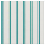 [ Thumbnail: Teal & Light Yellow Colored Lines/Stripes Pattern Fabric ]