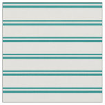 [ Thumbnail: Teal & Light Yellow Colored Striped Pattern Fabric ]