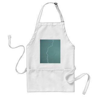 Teal Lightning Adult Apron