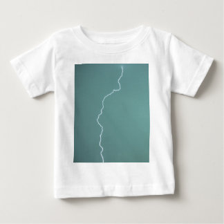 Teal Lightning Baby T-Shirt