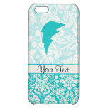 Teal Lightning Bolt iPhone 5C Covers