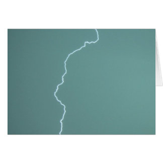 Teal Lightning Card
