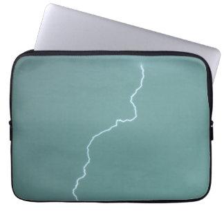 Teal Lightning Computer Sleeve