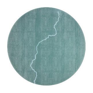 Teal Lightning Cutting Board