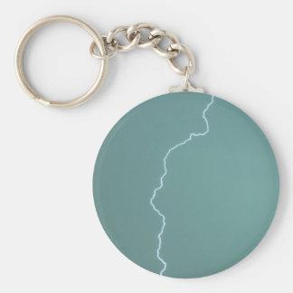 Teal Lightning Keychain