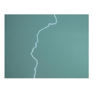 Teal Lightning Postcard