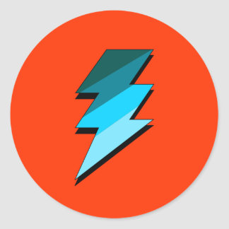Teal Lightning Thunder Bolt Stickers