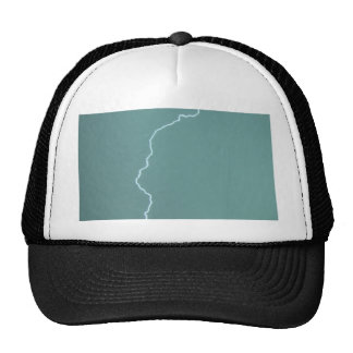 Teal Lightning Trucker Hat