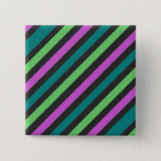Teal, Lime Green, Hot Pink Glitter Striped STaylor Button