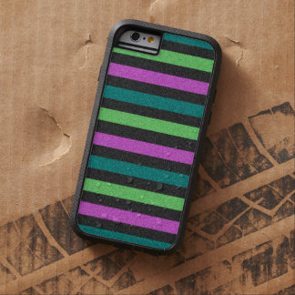 Teal, Lime Green, Hot Pink Glitter Striped Tough Xtreme iPhone 6 Case