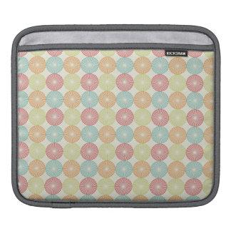 Teal, Lime Green, Red, Pink, Orange Circles iPad Sleeves