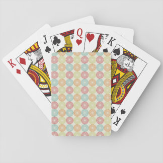 Teal Lime Green Red Pink Orange Circles Deck Of Cards
