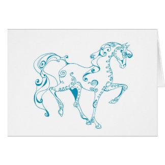 Teal Line Equine Card