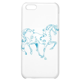 Teal Line Equine iPhone 5C Case
