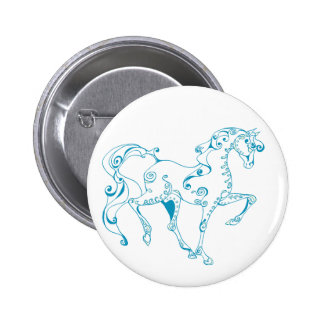 Teal Line Equine Pins