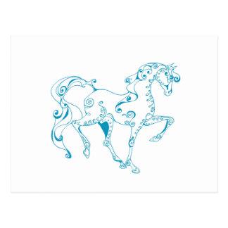 Teal Line Equine Postcard