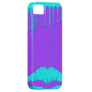 Teal Lips Drip Purple iPhone 5 Case-Mate