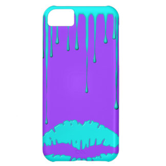 Teal Lips Drip Purple iPhone 5 Case-Mate iPhone 5C Case