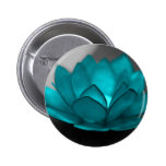 Teal Lotus 2 Inch Round Button