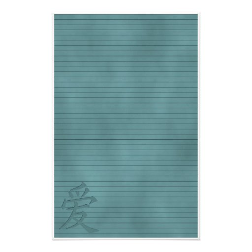 Teal Love Paper Stationery
