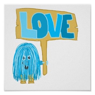 Teal Love Posters