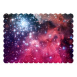 "Teal Magenta Ombre Stars 5"" X 7"" Invitation Card"