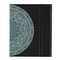 Teal Mandala iPad Case