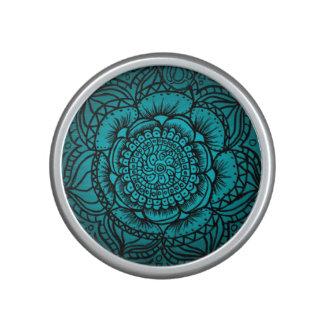 Teal Mandala Bluetooth Speaker